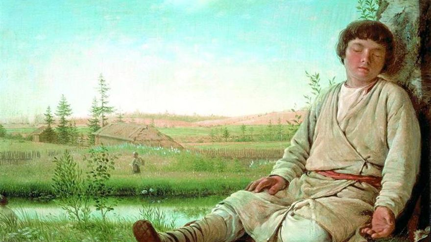 Pastor durmiendo (1924)    Alexey Venetsianov.