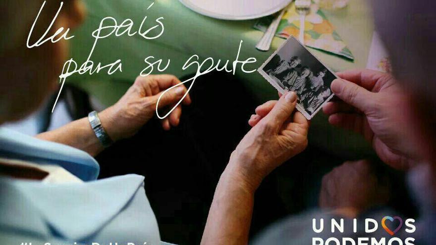 Imagen de la campaña de Unidos Podemos