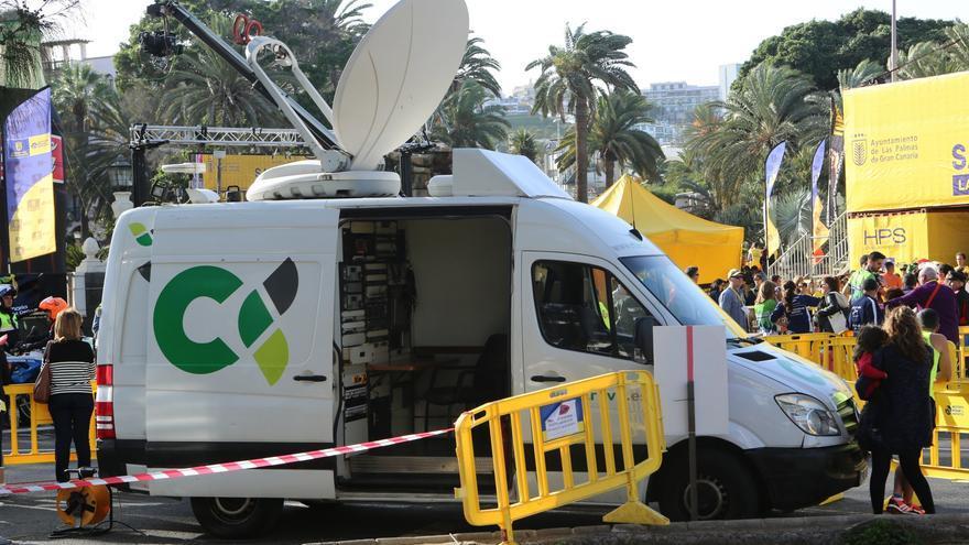 Unidad móvil de la Televisión Canaria