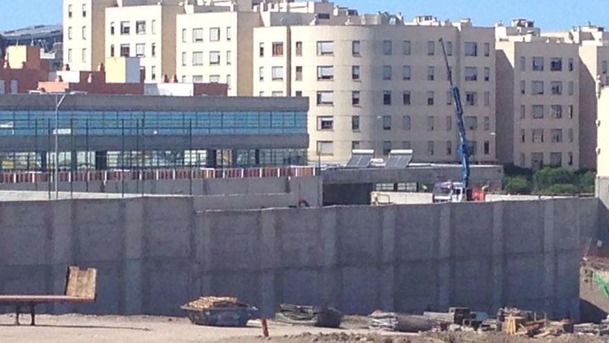 Estado de las obras del colegio de Siete Palmas este miércoles 3 de septiembre.