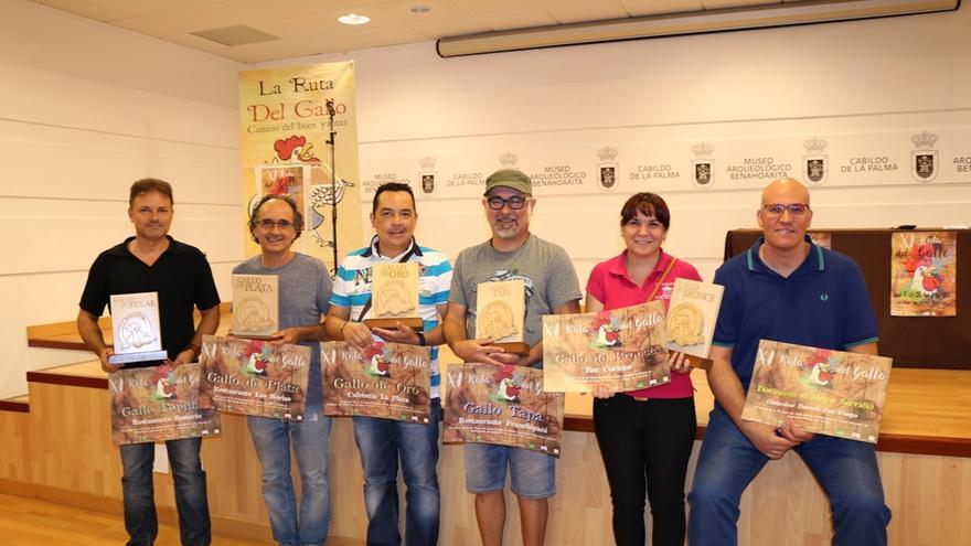 En la imagen, los premiados en la Ruta del Gallo.