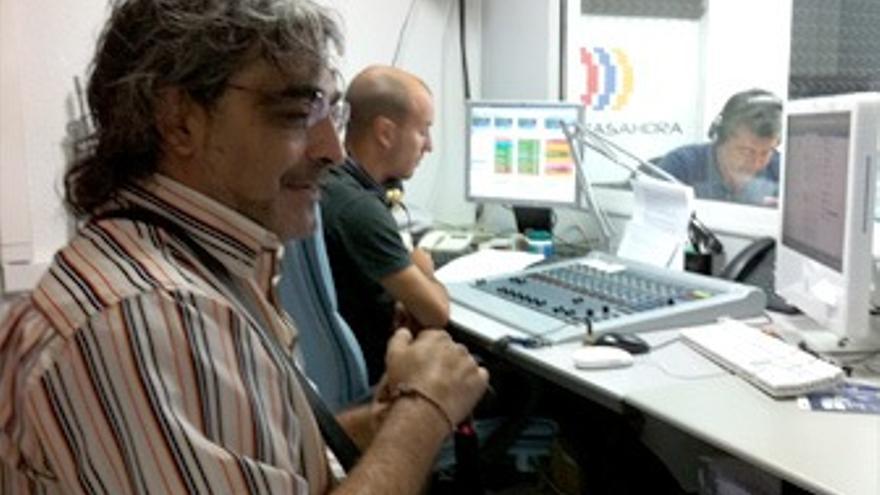 Matías Campos antes de entrar al programa 'El Correíllo'. (CANARIAS AHORA)