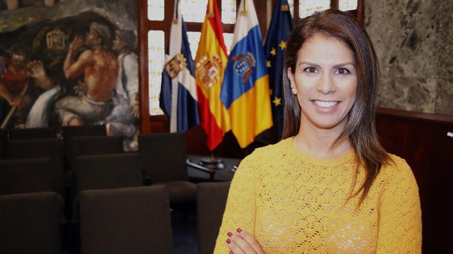 Laura Castro, en las instalaciones del Cabildo Insular de Tenerife
