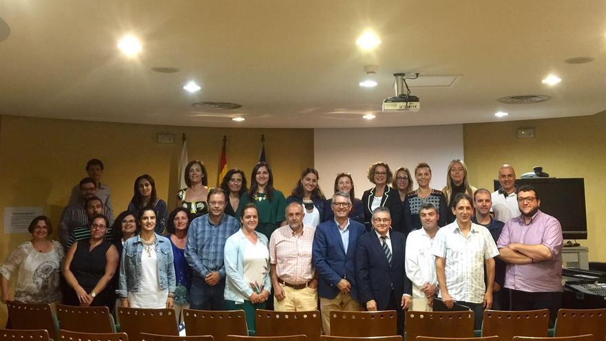 Foto de familia de los integrantes del Consejo de Salud de La Palma.