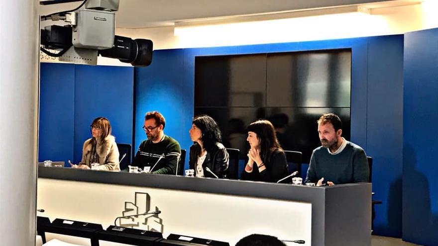 Rueda de prensa del Parlamento Vasco sobre abusos sexuales