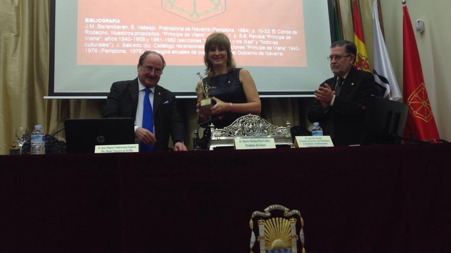 La consejera Ollo inaugura en Sevilla la exposición 'La cultura, identidad de Navarra'