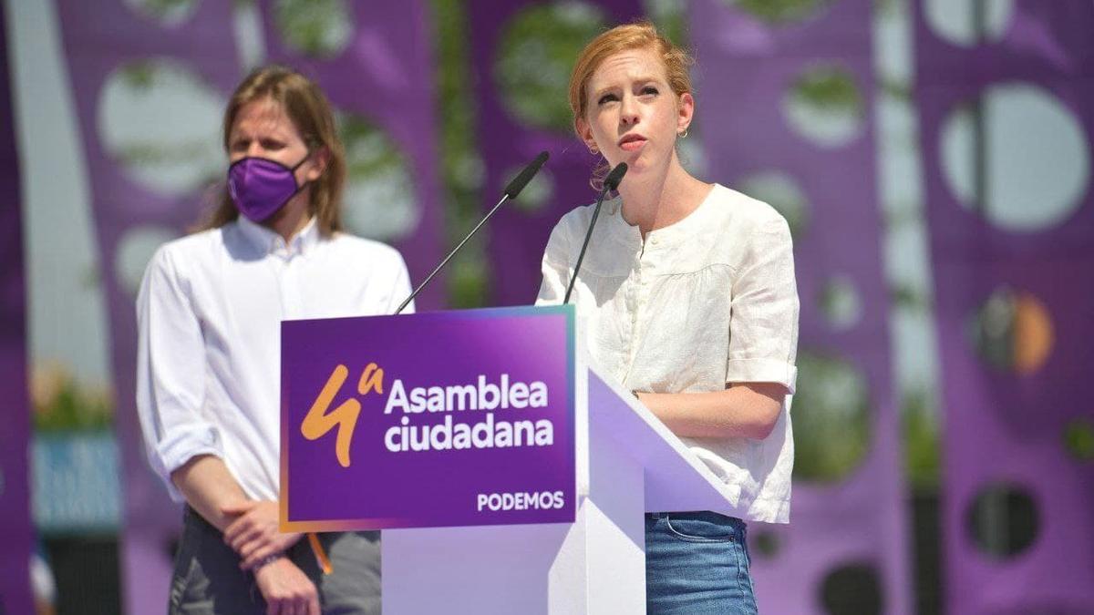 La futura secretaria de Organización de Podemos, Lilith Verstrynge, en el cierre de la IV Asamblea Ciudadana del partido el pasado fin de semana en Alcorcón (Madrid)