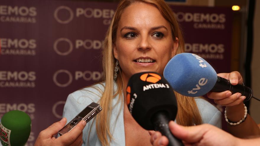 La portavoz del Podemos en el Parlamento de Canarias, Noemí Santana
