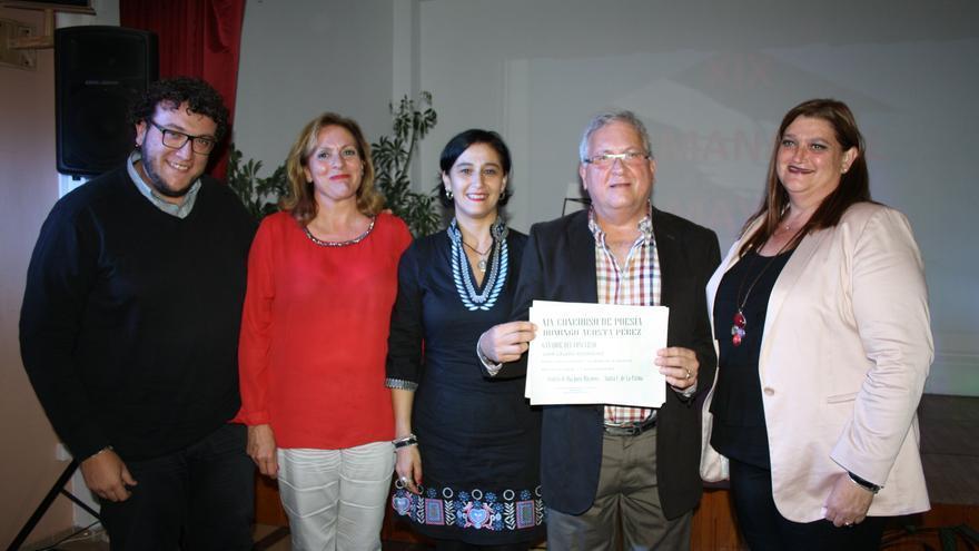 Juan Calero recibió el premio este miércoles.