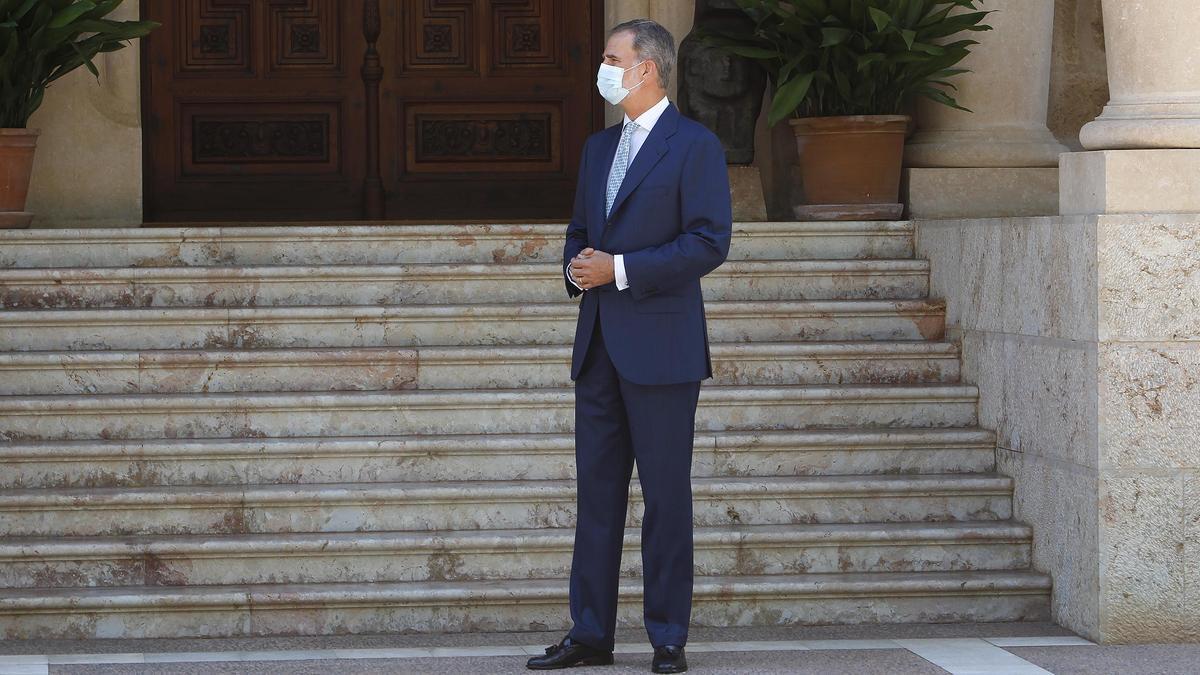 El Rey Felipe VI en el Palacio de Marivent