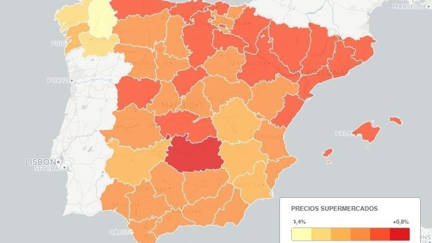 Galicia, la más barata para hacer la compra online, y Baleares, la más cara