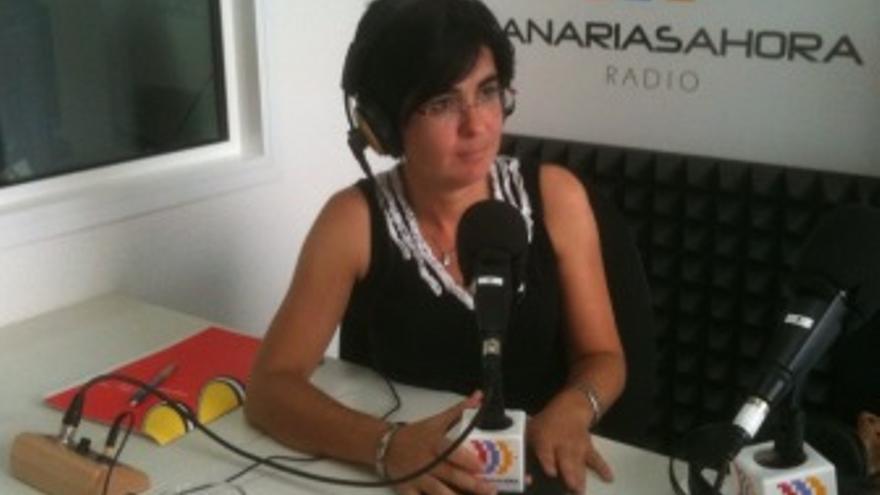 Carolina Darias, durante la entrevista en 'El Correíllo'. (CANARIAS AHORA)