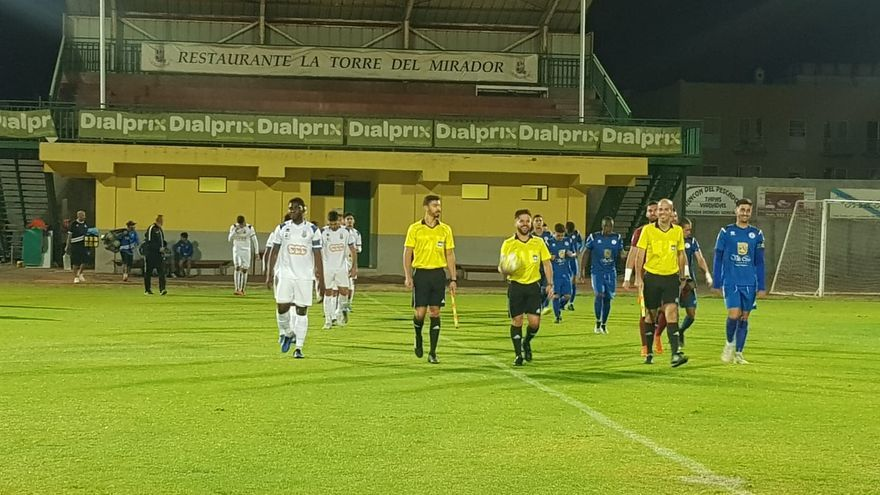 El Marino, en los prolegómenos del partido del pasado fin de semana ante el Ibarra