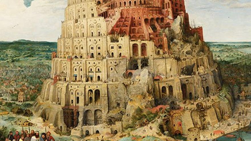 La Torre de Babel, pintura al óleo de Pieter Brueghel el Viejo. (DP)