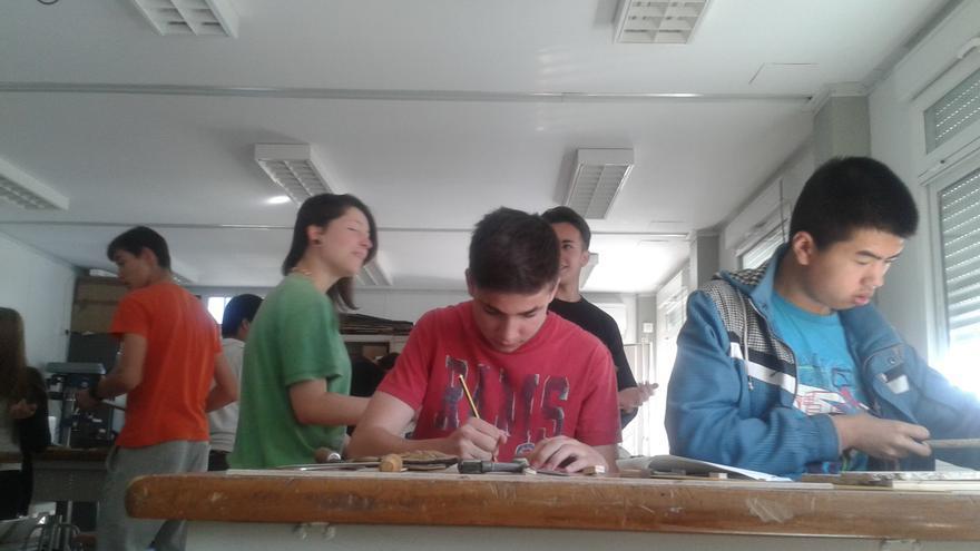 Los alumnos de Cuarto de la ESO del instituto de Sils.
