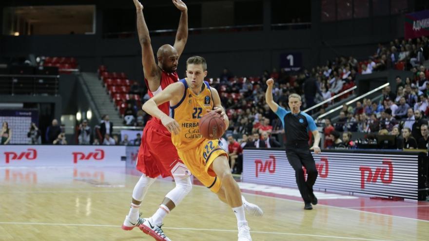 El Gran Canaria tuvo contra las cuerdas a Lokomotiv, pero cayó al final.
