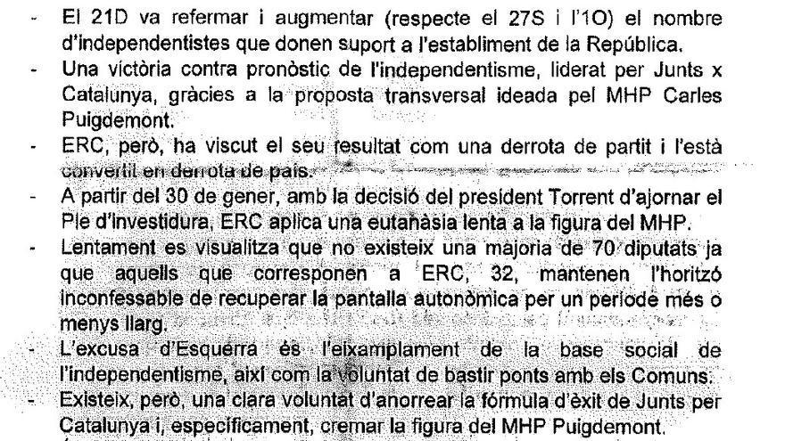 Texto de Terradellas contra ERC