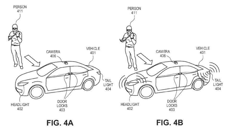 Una de las patentes de Ford presenta un coche que huye de los ladrones