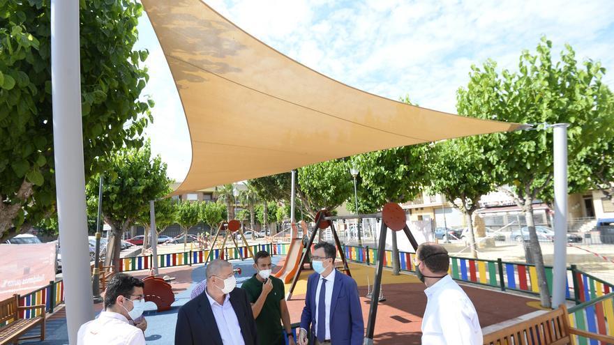 El alcalde de Murcia, José Ballesta, junto al concejal de Desarrollo Urbano, José Guillén, y el concejal de Pedanías y Barrios, Marco Antonio Fernández
