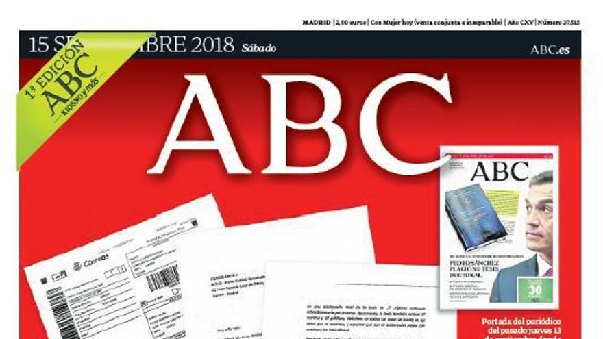 Portada ABC 15/09/2018