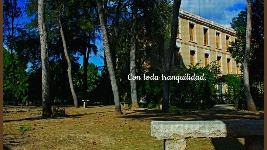 Un espacio de la Casa de Espiritualidad de Gandia, de las Esclavas del Sagrado Corazón de Jesús.