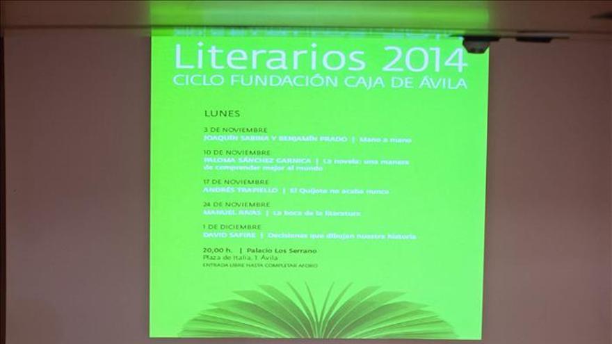 Sabina y Benjamín Prado abren un ciclo literario con recuerdos de copas y viajes