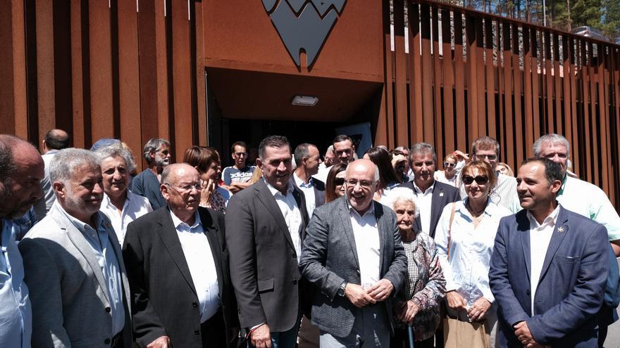 Inauguración del Centro de Interpretación de Risco Caído.