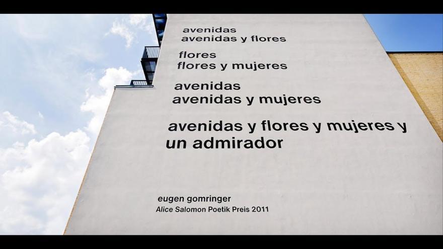 El polémico poema de Eugen Gomringer en la fachada de la Facultad