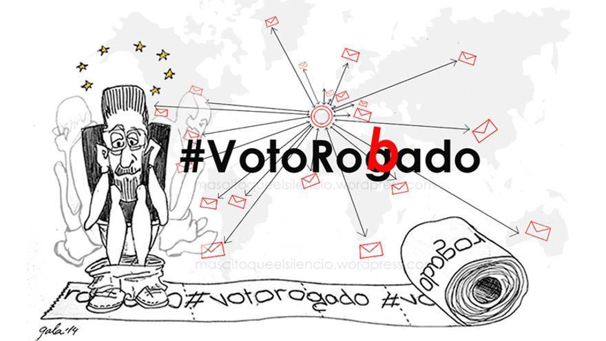 Viñeta crítica sobre el voto rogado de XXX (masaltoqueelsilencio.wordpress.com).