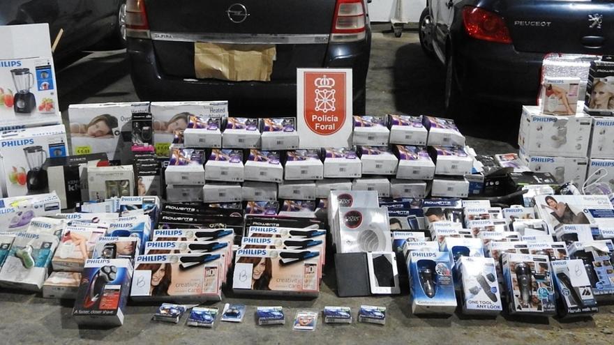 Dos detenidos en Aoiz por el robo de 150 pequeños electrodomésticos que iban a ser reciclados