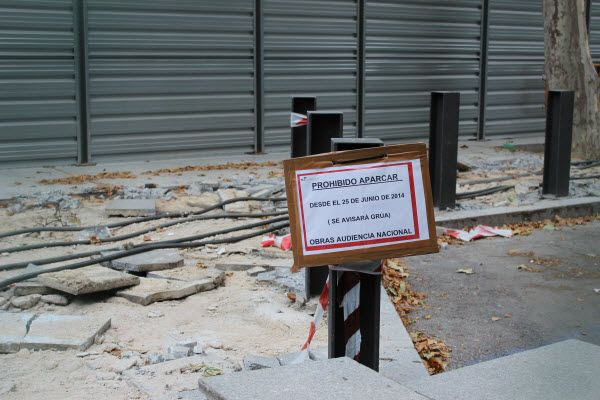Obras de ampliación de la rampa de General Castaños | Fotografía: Somos Chueca
