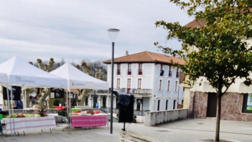 Mercado de Hondarribia, este miércoles