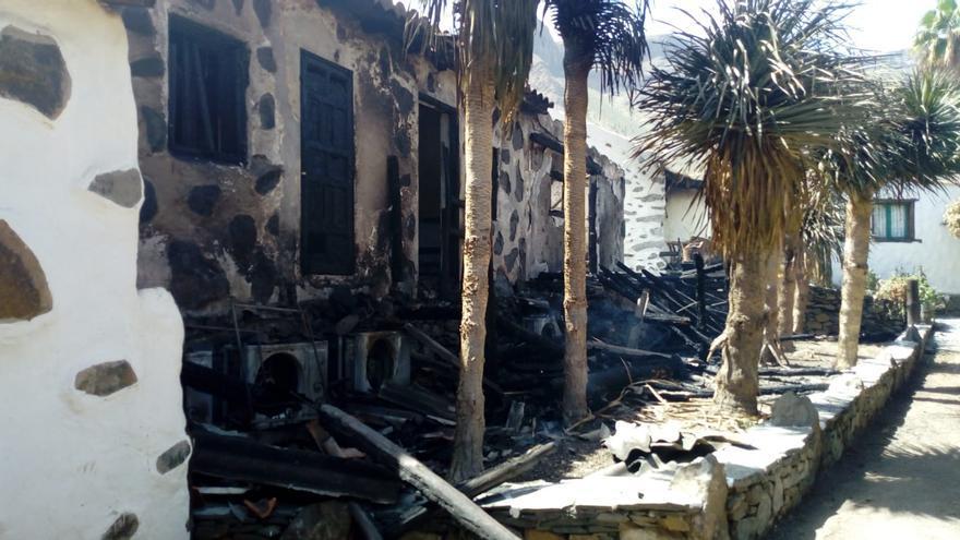 Los investigadores descartan que el incendio de Fataga se haya producido por causas naturales