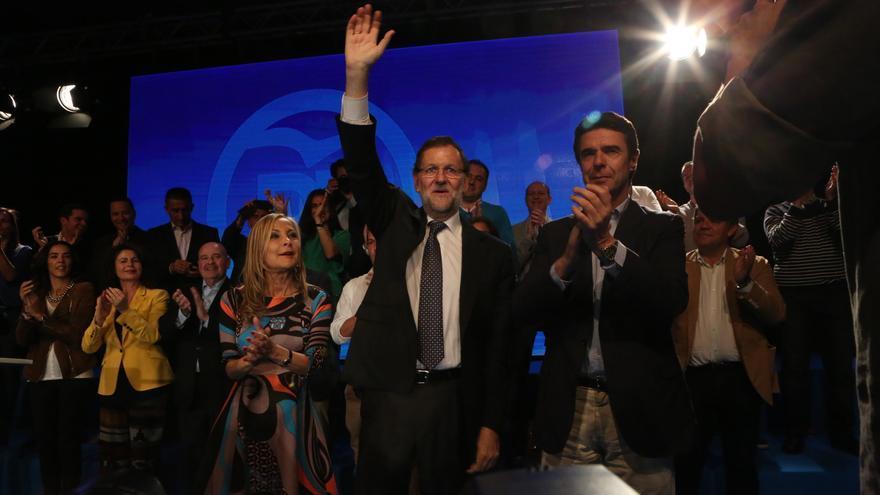 Mitin de Mariano Rajoy en Infecar, en Gran Canaria. (Alejandro Ramos)