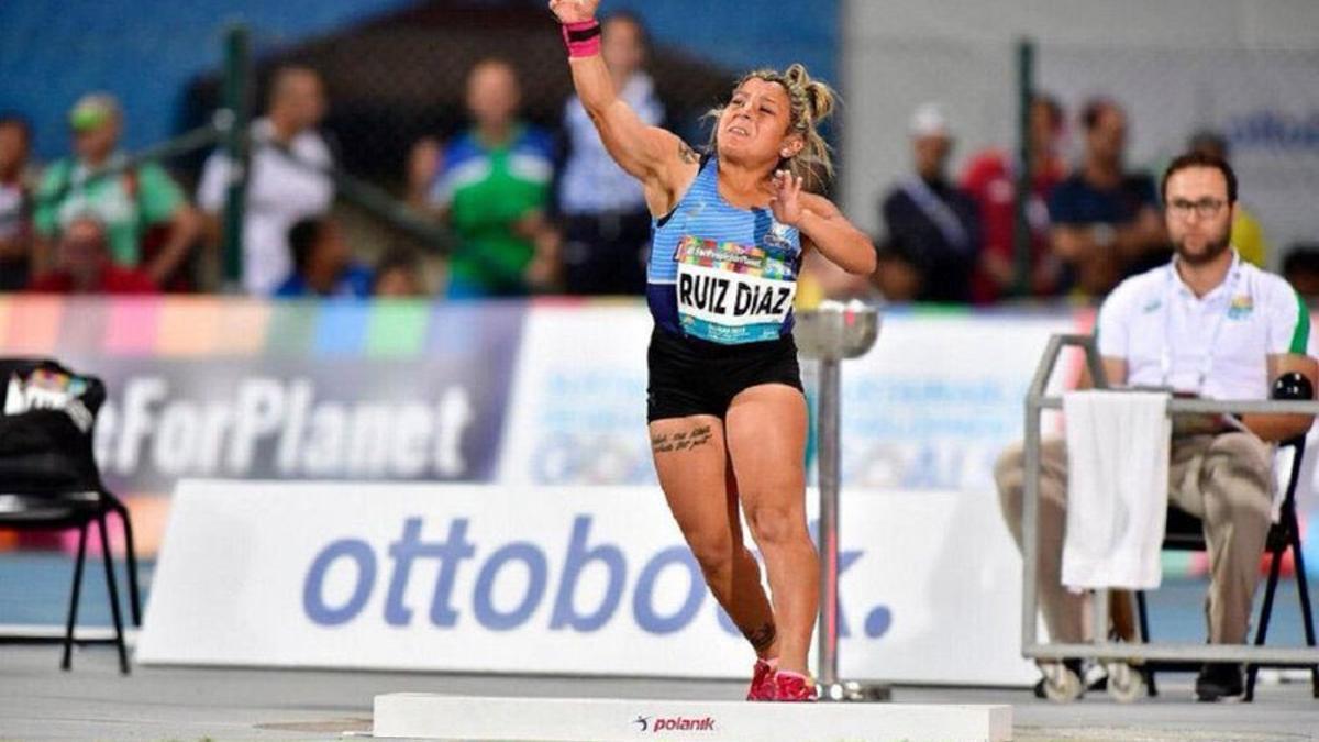 Antonella Ruiz Díaz lanzó 9,50 metros para quedarse con la medalla de bronce.