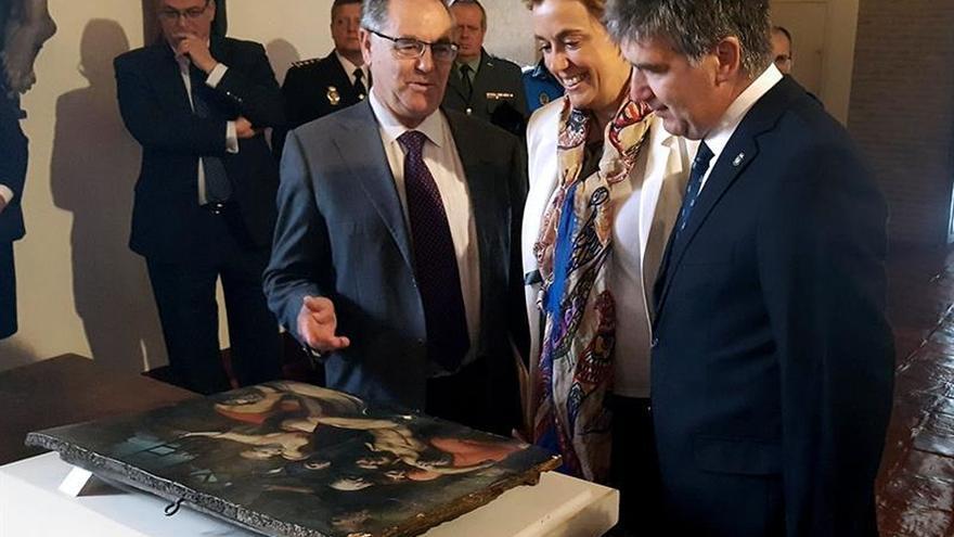 La Policía devuelve a la Diócesis de Palencia una tabla del S.XVI robada hace 60 años