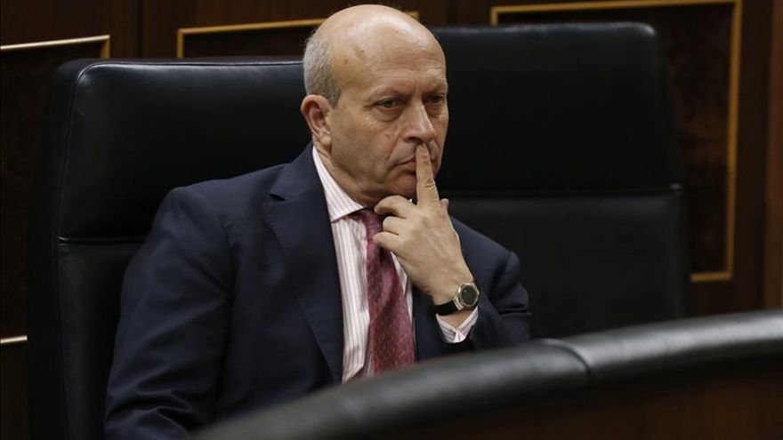 El ministro de Educación, José Ignacio Wert, en una sesión del Congreso