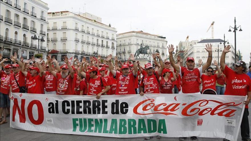 Imagen de archivo de una manifestación de los trabajadores de Coca-Cola en Lucha.