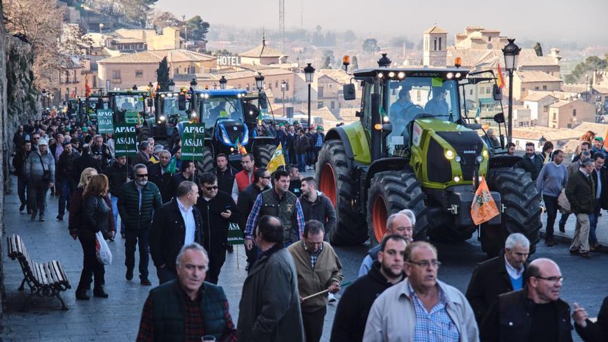 Manifestación agraria y ganadera en Toledo