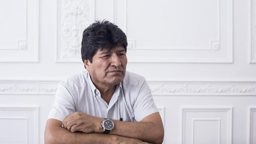 El expresidente de Bolivia Evo Morales durante una entrevista con eldiario.es en Buenos Aires (Argentina)