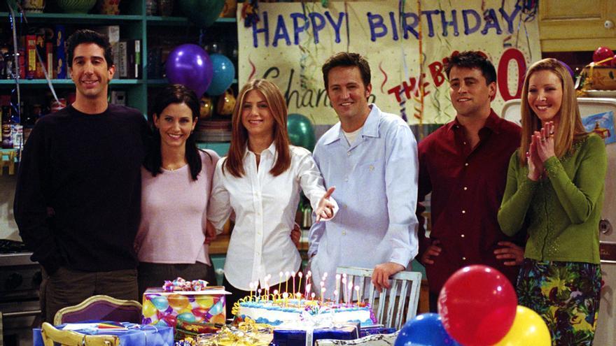 El reparto de 'Friends' en una imagen de la séptima temporada