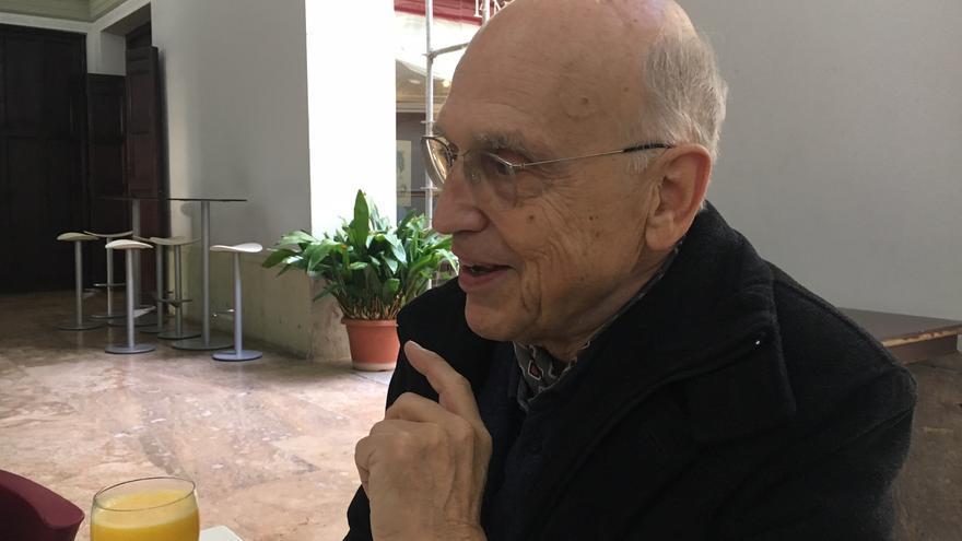 Wolfgang Fritz Haug durante la entrevista.