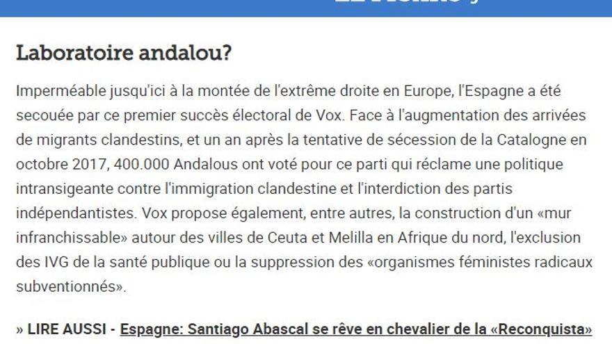 """""""¿Laboratorio andaluz?"""", en 'Le Figaro'"""