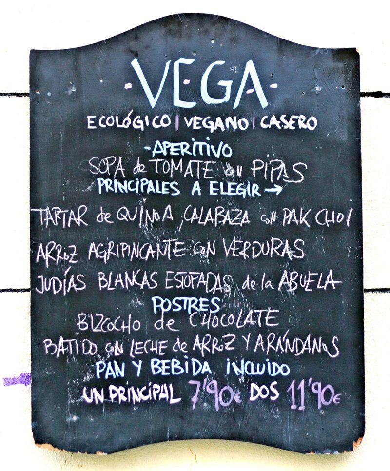 Menú del día en Vega | RAQUEL ANGULO