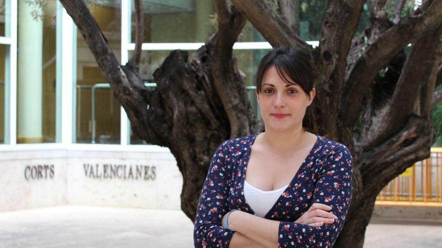Marian Campello, en las Corts Valencianes.