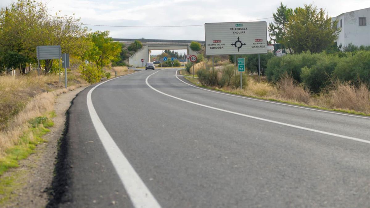Una carretera de la provincia.