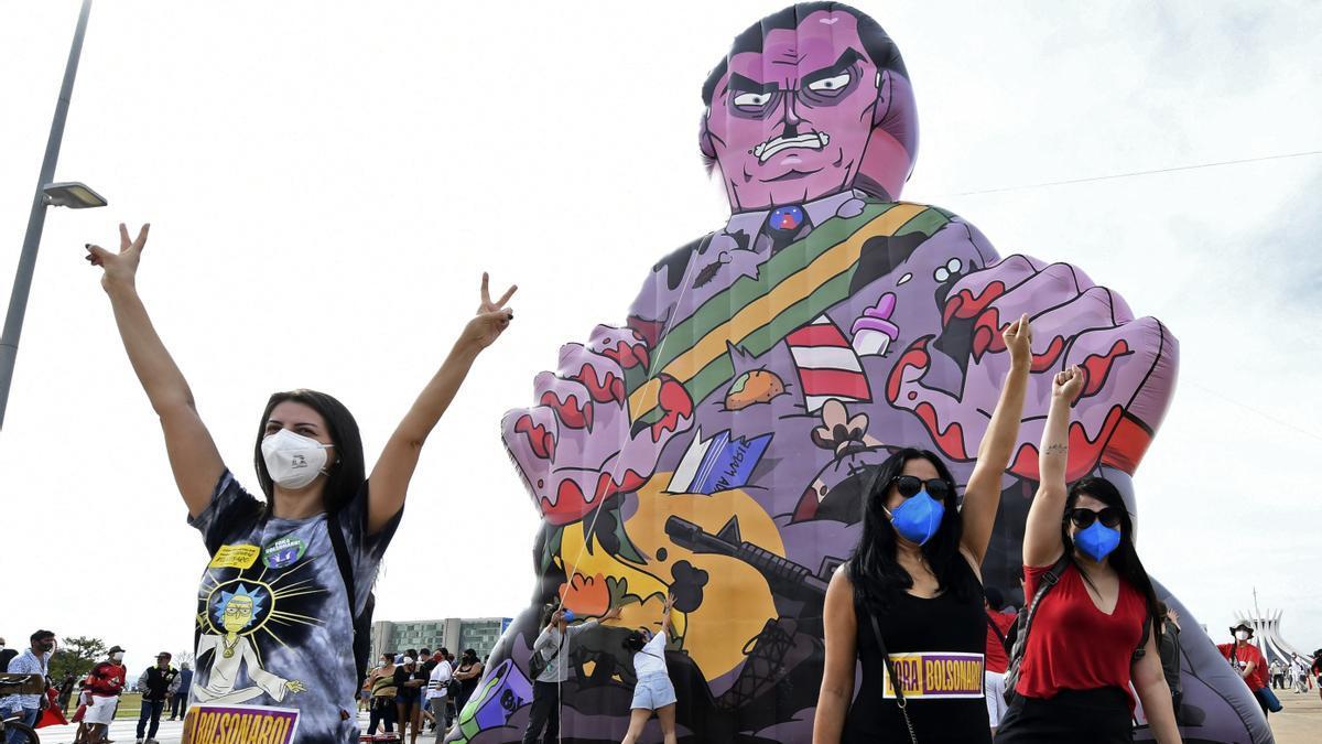 Masivas manifestaciones contra el Gobierno de Bolsonaro en Brasil