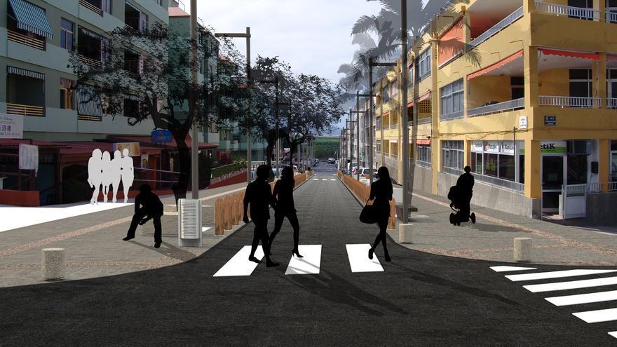 Recreación de la Calle Cruz Roja.