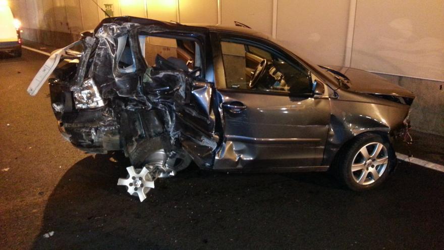 Aparatoso accidente en el túnel de San José #4