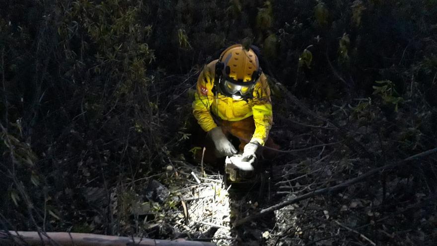 Mauricio Martín, bombero forestal del INFOCA